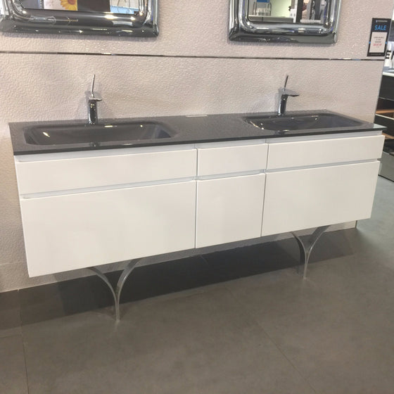 Aquos Bath Vanities Max White Double Sink
