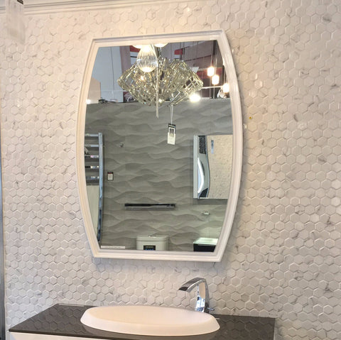 Aquos Bathroom Mirror Carol White