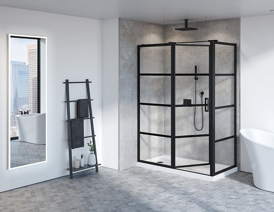 Fleurco Latitude Pivot Shower Door Two-Sided