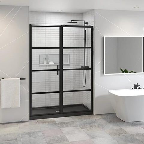 Fleurco Latitude Pivot Shower Door In-Line