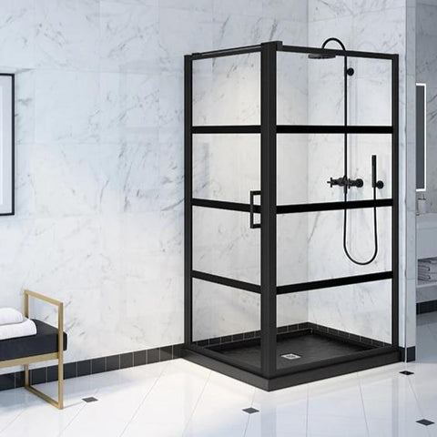 Fleurco Latitude Pivot Shower Door Two-Sided Cube
