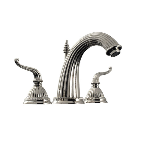 Santec Widespread Bathroom Faucet Monarch III Lever Handle