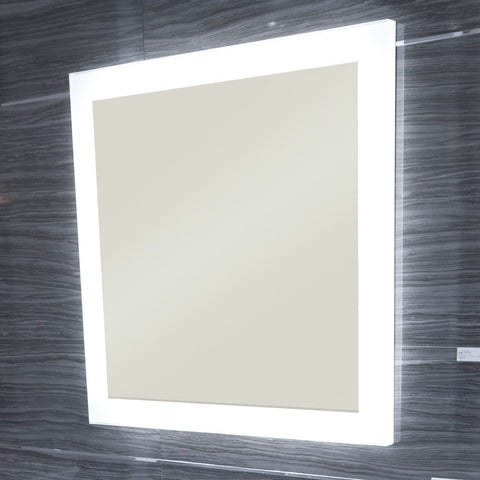 Bathroom Mirrors Vaughan artelinea bathroom mirror luminee illuminated – canaroma bath & tile