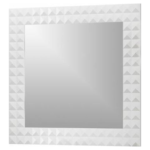 Macral Bathroom Mirror Diamond Collection - White Gloss