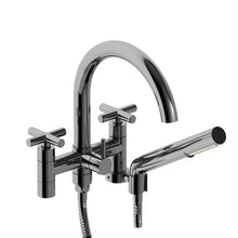Riobel Tub Filler Pallace Wall Mount with Hand Shower Cross Handle