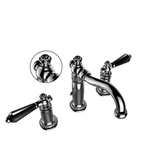 Vissoni Bath Faucet Percheron Black Crystal and Jeweled