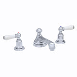 Perrin & Rowe Three hole basin set with low profile spout and lever handles