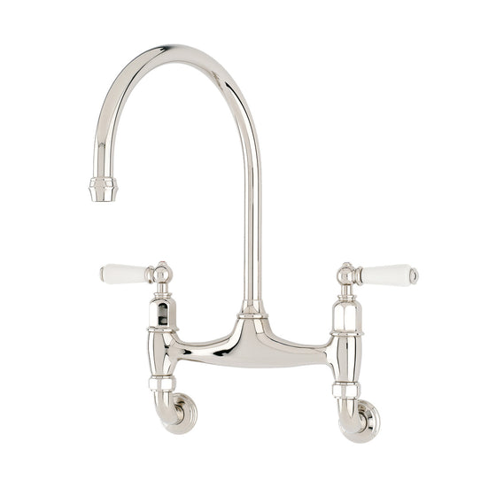 Perrin & Rowe Ionian wall mounted taps with lever handles