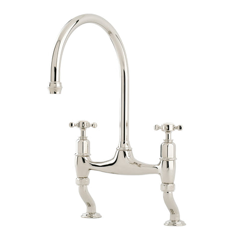 Perrin & Rowe Ionian deck mounted taps with crosshead handles