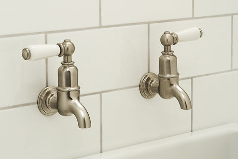 ... Perrin U0026 Rowe Mayan Wall Mounted Taps With Lever Handles ...