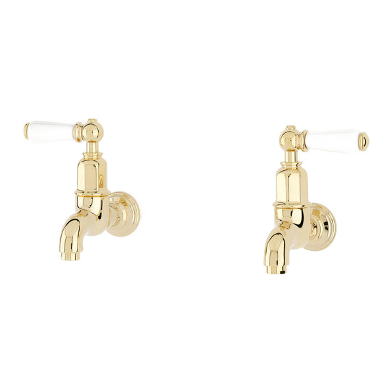 Perrin & Rowe Mayan wall mounted taps with lever handles