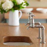 Perrin & Rowe Mayan deck mounted taps with crosshead handles