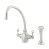 Perrin & Rowe Etruscan sink mixer and rinse