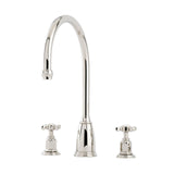Perrin & Rowe Athenian three hole sink mixer with crosshead handles