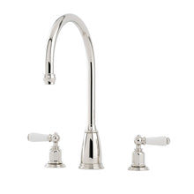 Perrin & Rowe Athenian three hole sink mixer with lever handles