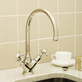 Perrin & Rowe Minoan sink mixer with crosshead handles