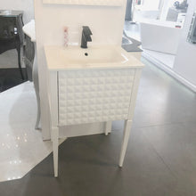 Macral Bath Vanity Diamond Collection - White Gloss