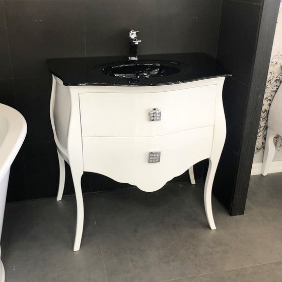 Macral Bath Vanity Paris Collection - White Gloss