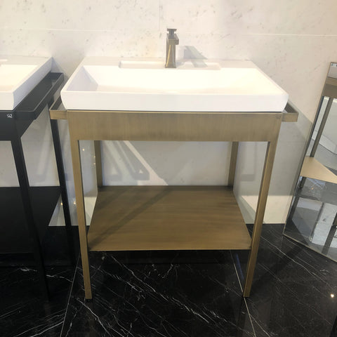 Arius Bath Vanity Single Sink Brass