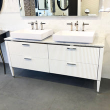 GB Group Bath Vanity LAMÈ Double Sink White