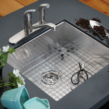 Kindred QSLF2020/8/3 Prep Sink with BG218S Bottom Grid
