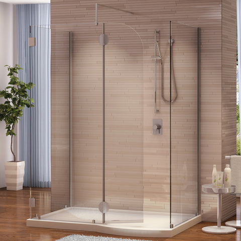 Fleurco Evolution 5' and 6' Walk-in Shower System with Shield