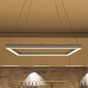 "Atria 20"" Modern Square LED Chandelier, Satin Nickel"