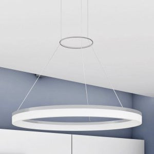 "Tania 24"" Modern Circular LED Chandelier, Satin Nickel"