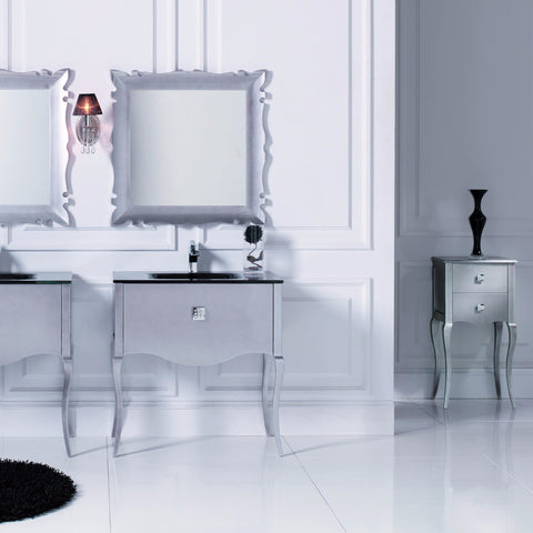 Macral Bath Vanity Viena Collection - Silver Gloss