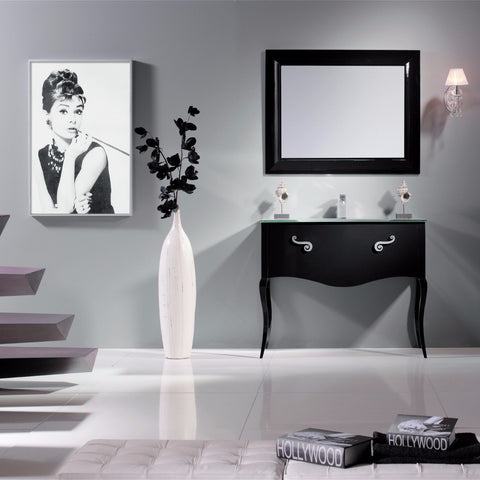 Macral Bath Vanity Viena Collection - Black Gloss