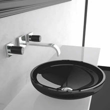 Glass Design Clivia Black Crystal Washbasin