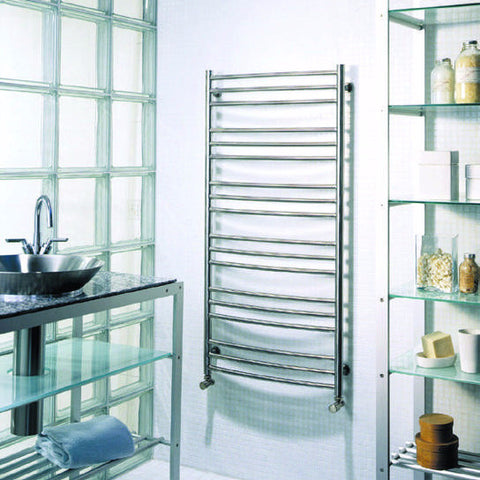 ICO Tuzio Towel Warmer Laveno Brushed Nickel