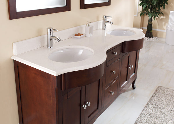 Tidal Bathroom Vanity Bella 60 Double Sink Canaroma