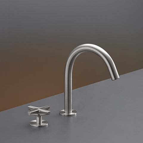 Genial CEA Two Hole Bathroom Faucet Cross Deck Mounted