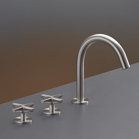 CEA Three-hole Bathroom Faucet Cross Deck Mounted