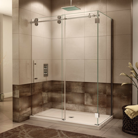 Fleurco Kinetik Two-Sided KT Shower Door, Closes Against Wall