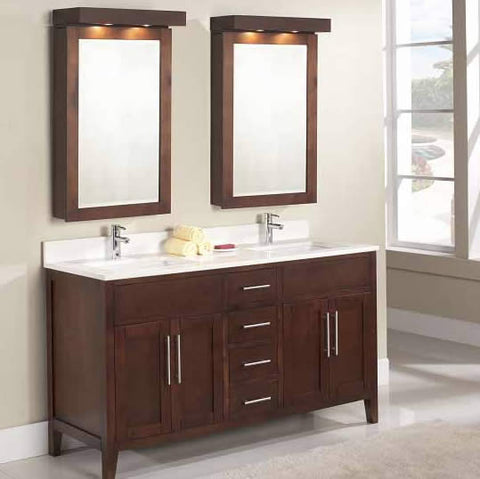 Custom Bathroom Vanities Vaughan double sink vanity – canaroma bath & tile