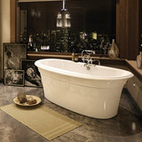 Maax Ella Embossed Freestanding Bathtub