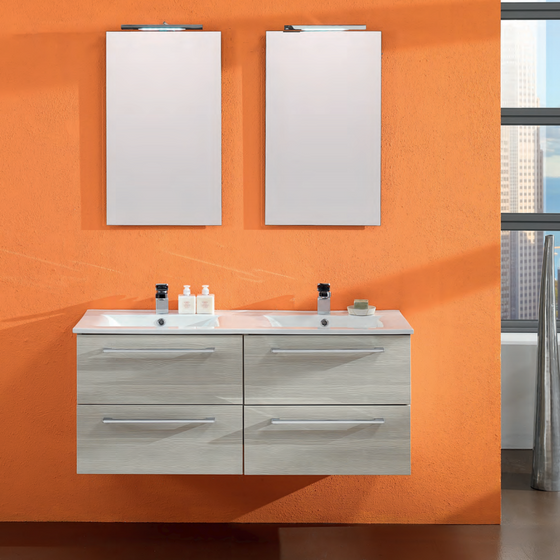 Onsen Falegnameria Adriatica Maranello Double Sink Bath Vanity Collection