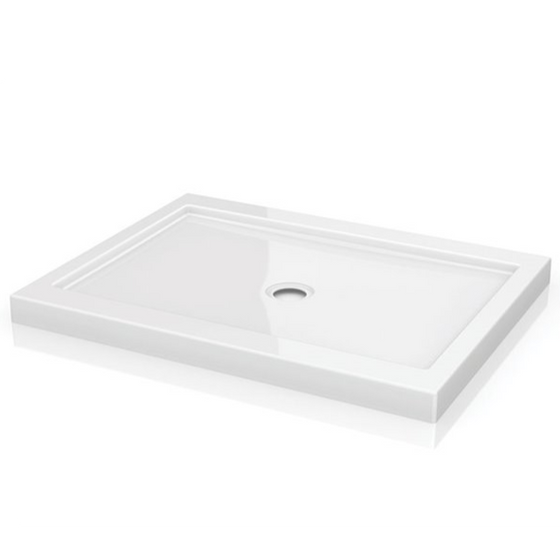 Fleurco ADQ QUAD Shower Base with Side Drain