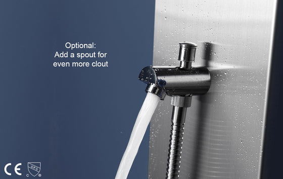 shower column tub spout