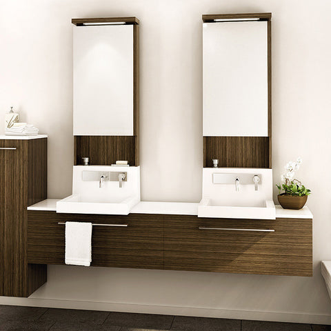 Vanico Wall Double Sink Bath Vanity