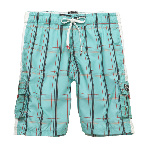 Classic Plaid Print Beach Shorts