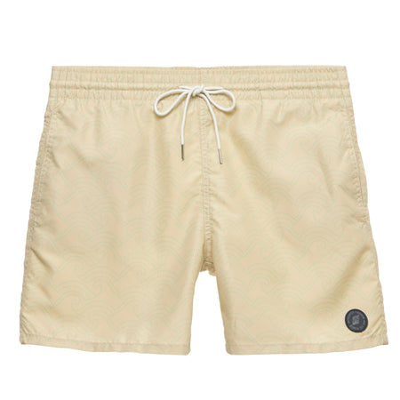 Striped Elastic Waistband Swim Short