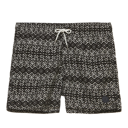 Heather Print Elastic Waistband Swim Short