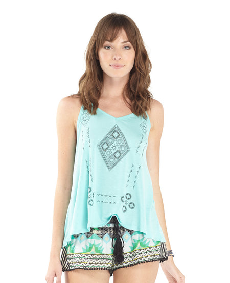 Electric Fiesta Flounce Top