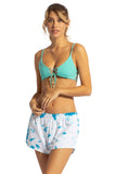 Elastic Waist Beach Swim Cover-up Shorts