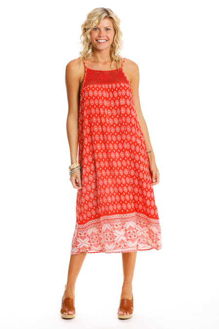 Summer Cherry Cover-Up Beach Dress
