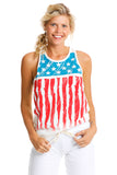 American Flag Graphic Tank Top