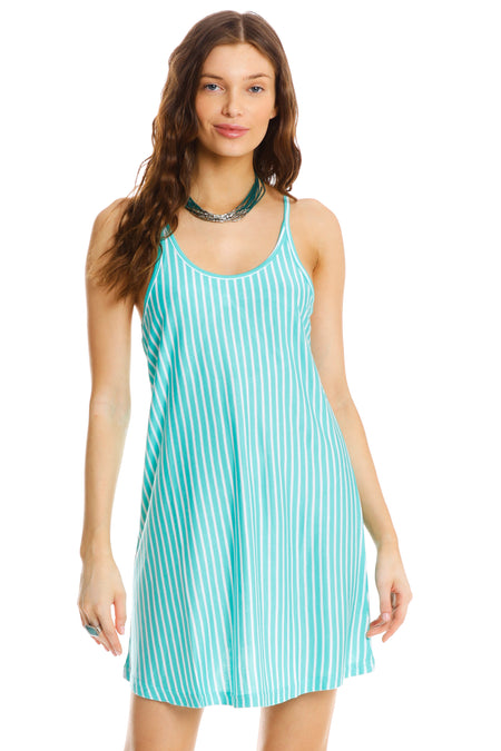 Burnout beach dress